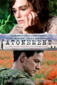 Atonement movie poster onesheet